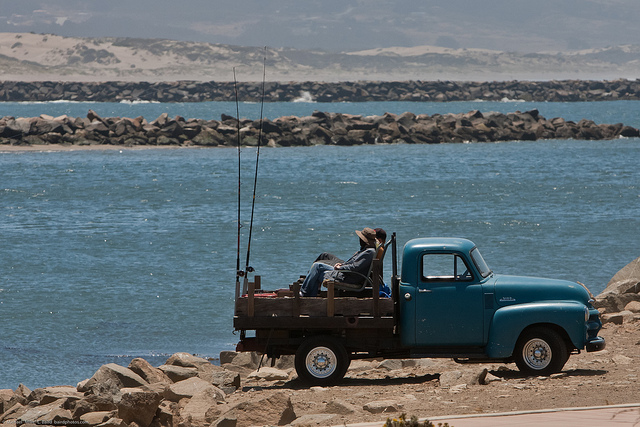 """Fishing from the back of an old pickup"" by mikebaird on Flickr"