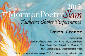 2013 #MormonPoetrySlam Audience Choice Performance